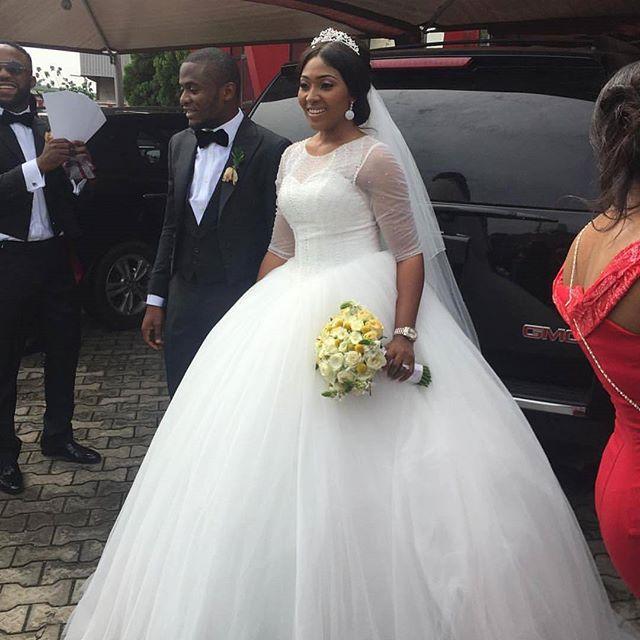 Lilian Esoro Ubi Franklin White Wedding 27