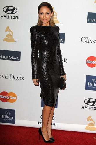 Nicole Richie All Black With Little Black Dress Evatese Blog