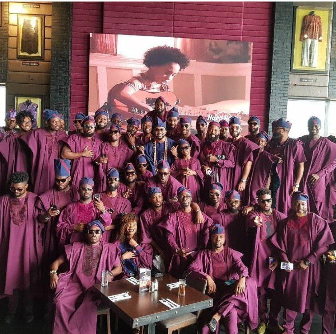 Traditional Wedding Gift From Groom To Bride: Bankyw-Traditional-wedding-groom-squad (1)